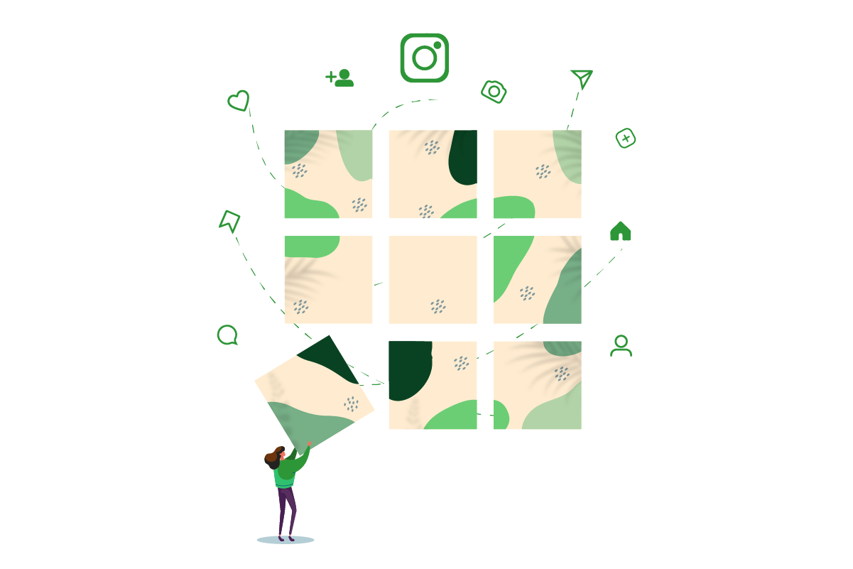 How to design Outstanding Instagram Grid Layout
